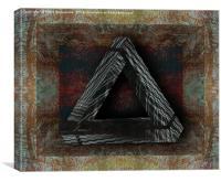 Triangle Texture, Canvas Print