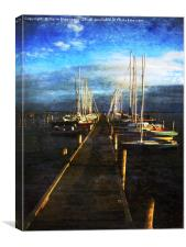 Overlooking The Yacht Dock, Canvas Print