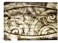Wood Spirit Effect Monochrome , Canvas Print