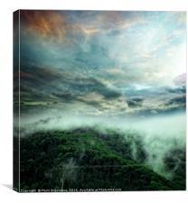 Carpathian Fog, Canvas Print