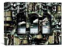 Factory Effect, Canvas Print