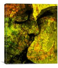 Graffiti Kiss, Canvas Print