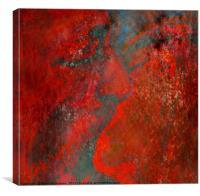 Dark Red Kiss, Canvas Print