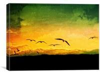Horizon Yellow, Canvas Print