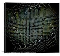Vibrant Tiles Displacement, Canvas Print