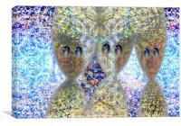 Slide Trio , Canvas Print