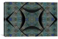 Complex Turquoise², Canvas Print