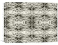 Asynchron B&W, Canvas Print