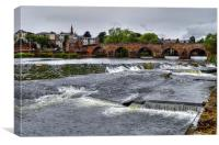 The River Nith  Dumfries and Galloway, Canvas Print