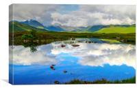 Loch Ba western side , Canvas Print