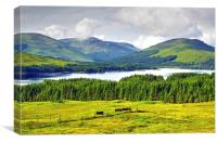 Loch Tulla on the A82 road North . , Canvas Print