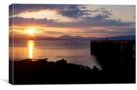 Sunset at Lamont's Pier, Canvas Print