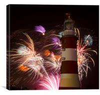 Smeatons Fireworks, Canvas Print