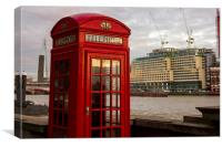 Red Telephone Booth, Canvas Print