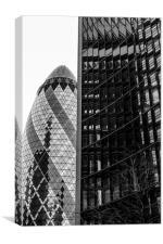 Gherkin Architecture, Canvas Print