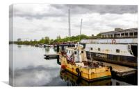 Boats In Copenhagen, Canvas Print