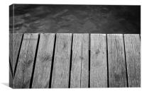 Black and White Jetty, Canvas Print