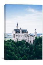 Neuschwanstein Castle Blue, Canvas Print