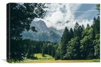 Zugspitze In Clouds, Canvas Print