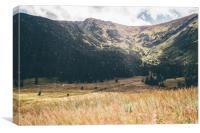 Autumn Mountain Landscape, Canvas Print