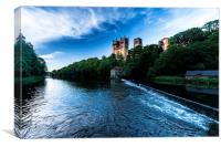 Durham Cathedral in evening light, Canvas Print