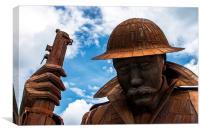 Tommy world war one soldier, Canvas Print