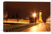 A Night in London, Canvas Print