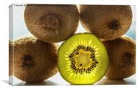 Kiwi Fruit Green Natural Light, Canvas Print