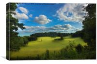 A beautiful landscape of the British countryside, Canvas Print