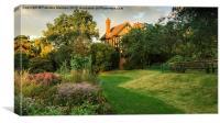 English country garden, Canvas Print