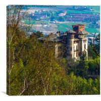 The castle on the hill, Canvas Print