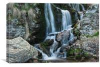 Mountain River Waterfall , Canvas Print