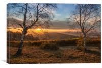 A good morning sunrise, Canvas Print