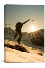 Mountain Hiking Fun, Canvas Print
