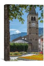 Saint Vincent Valle d'Aosta Italy, Canvas Print