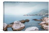 A Gloomy Day In Malcesine Lake Garda , Canvas Print