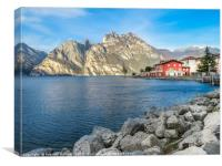 Morning light over Lake Garda, Canvas Print