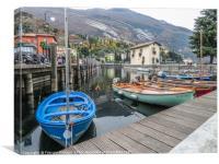 Boats in Torbole sul Garda Trentino Alto Adige Ita, Canvas Print