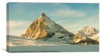 Afternoon light over the Matterhorn, Canvas Print
