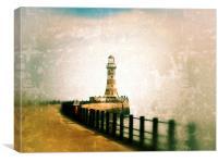 Roker Lighthouse, Canvas Print