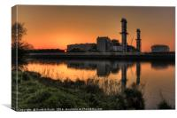 Industrial Reflection, Canvas Print
