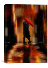 A deluge of love fantasy love and romance, Canvas Print