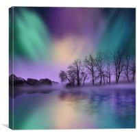 """dawn of the north"" - The Northern Lights , Canvas Print"