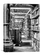 The Old Book Shop, Canvas Print