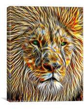 The Majestic Lion, Canvas Print