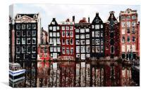 Amsterdam Houses, Print, Canvas Print