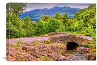 Ashness Bridge Cumbria, Canvas Print
