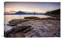 Elgol Sunset on the isle of Skye, Canvas Print