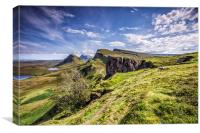 The Quiraing on the isle of Skye During the Daytim, Canvas Print