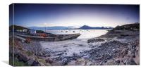 Elgol Harbour At Sunset, Canvas Print